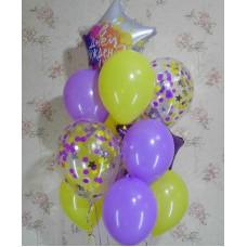 Гелиевые шарики Нежная лаванда