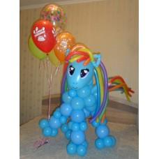 Гелиевые шарики Пони Радуга Дэш