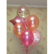 Гелиевые шарики Розовый Фонтан