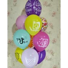 Гелиевые шарики Tik Tok