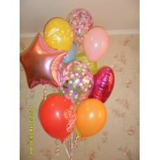 Гелиевые шарики веселенький букет