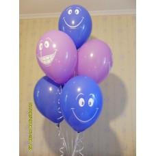 Гелиевые шарики веселые смайлы 2