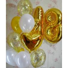 Гелиевые шарики Восемнадцать лет