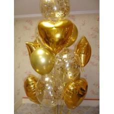 Гелиевые шарики Золото