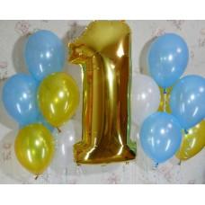 Гелиевые шарики Золотой годик