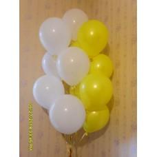 Гелиевые шары бело-жёлтый фонтан.