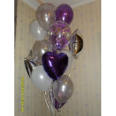 Гелиевые шары фиолетовый фонтан