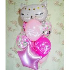 Гелиевые шары Кошка
