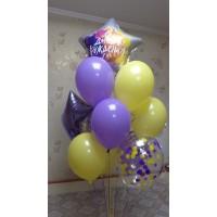 Гелиевые шары Лимон + Лаванда
