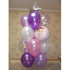 Гелиевые шары Нежно-фиолетовое счастье