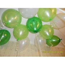 Гелиевые шары зелено-белые